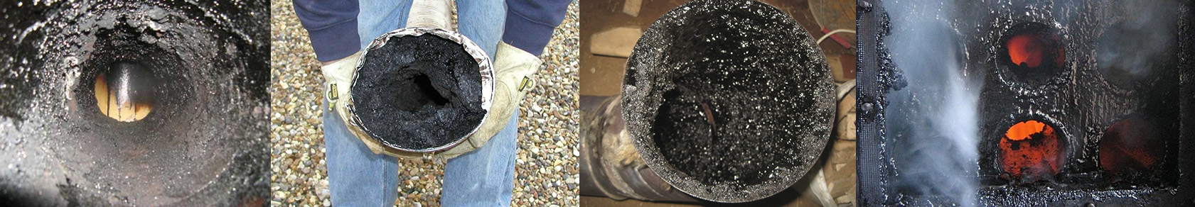Результат не правильной работы отопительного прибора - большое количество налета сажи.