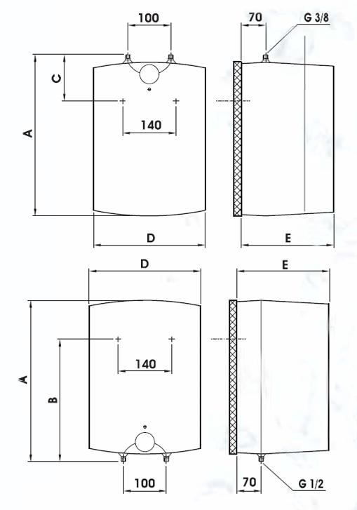 Электрический бойлер Drazice BTO