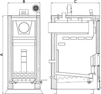 Heiztechnik Holz Plus габаритный чертеж