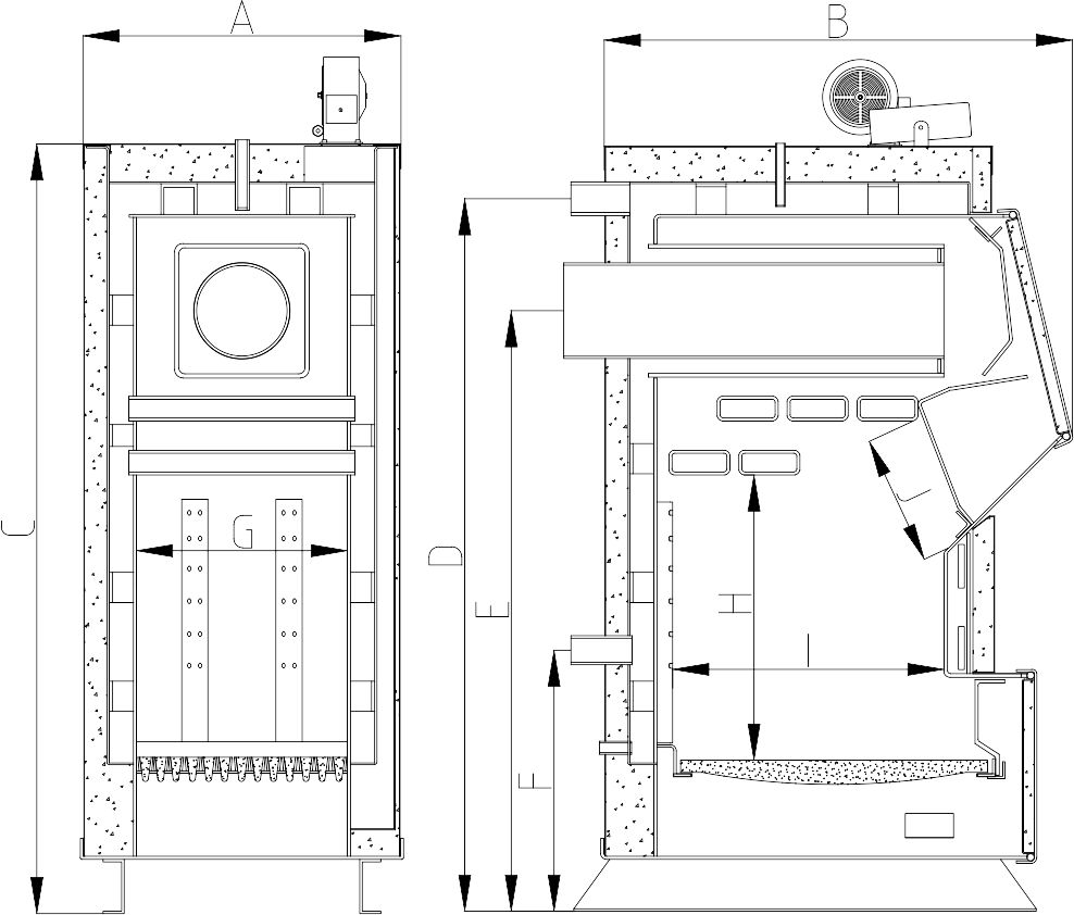 Heiztechnik Q Plus габаритный чертеж