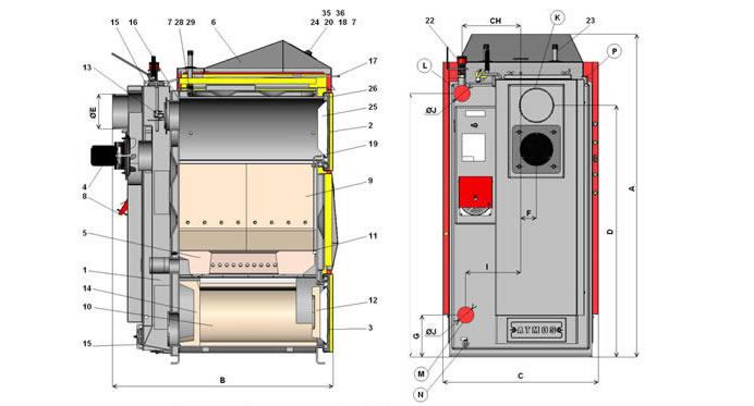 Конструкция котла Атмос